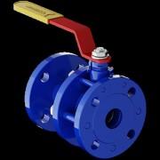 Кран шаровой стальной разборный 11с67п Ду 25 Ру16 фланцевый полнопроходной
