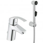 Смеситель GROHE EUROSMART (арт.23124002) для умывальника, S-Size, с гигиен. душ