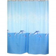 "Шторка для ванной ""Dolphins "" (арт.1344/1023) 180х200 без колец (PL)"