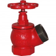Вентиль пожарный чугунный угловой КПК Ду=50 мм (муфта цапка) с длинным штоком