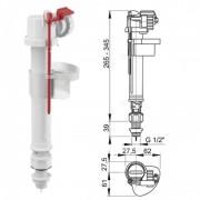 """Впускной механизм с нижней подводкой (пластик) A17-1/2"""" (AlcaPlast)"""