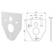 Звукоизоляционная плита для подвесного унитаза и биде M91 (AlcaPlast)