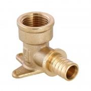 Водорозетка для труб PEX 16 (2,2) х 1/2 латунь Valtec (VTm.454.G.001604)