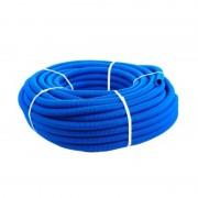 Кожух гофрированный ПНД 32мм синий (под 20 трубу) (50 м)