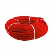 Кожух гофрированный ПНД 40мм красный (под 25 трубу) (30 м)