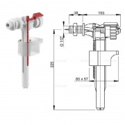 """Впускной механизм с боковой подводкой (пластик) A15-1/2"""" (AlcaPlast)"""