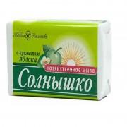 """Мыло хозяйственное """"Солнышко"""" (Яблоко) (140 гр)"""