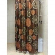 """Шторка для ванной """"Круговой орнамент"""" коричневый (арт.30242) 180х200 без колец"""
