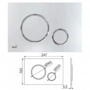Клавиша для систем инсталляции (хром-глянец/хром-мат) M771 (AlcaPlast)