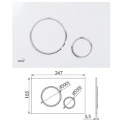Клавиша для систем инсталляции (хром-глянец) M770 (AlcaPlast)
