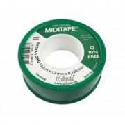 Лента ФУМ MIDITAPE (13,2 м х 12 мм х 0,1мм) (зел.)